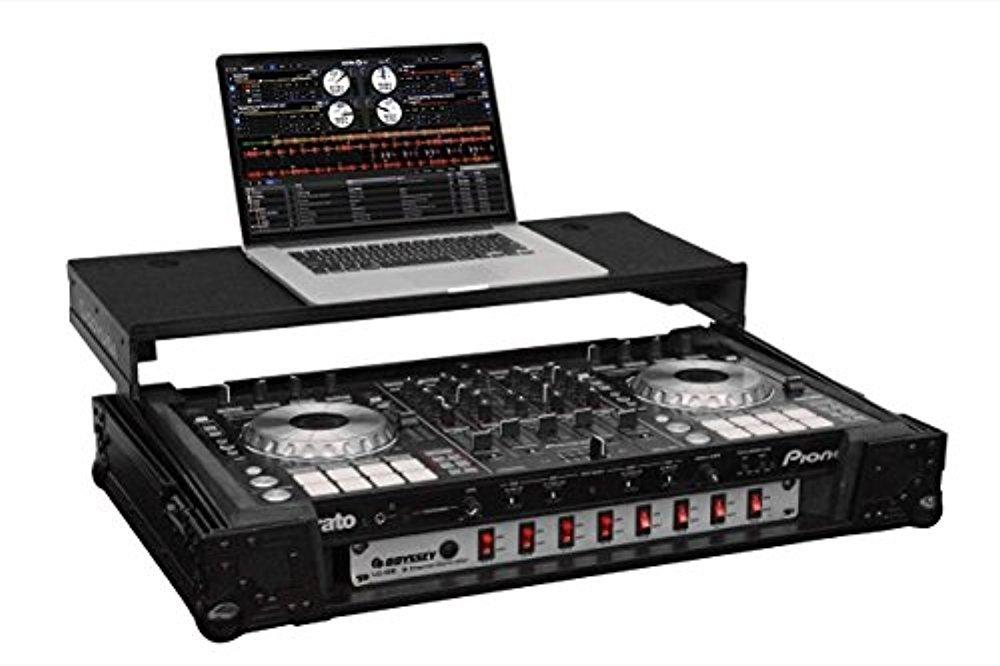 Odyssey Black Label Glide Style DJ Control Case with Rack Mount | FZGSPIDDJSX2BL