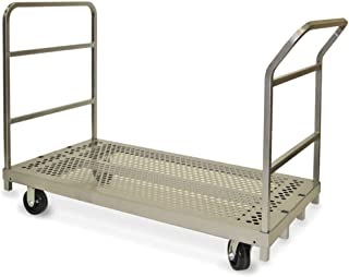 product image for Raymond Products Heavy Duty Platform Truck with Swivel 5 in. Phenolic Casters 1 Push Handle and 1 End Handle