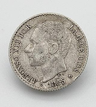 Desconocido Moneda de 50 Cent del Año 1885. Moneda de Plata. Moneda Coleccionable. Moneda de Coleccionista. Moneda de España.: Amazon.es: Juguetes y juegos