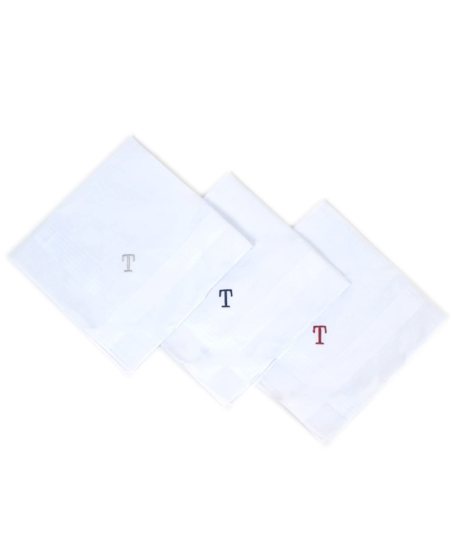 Boxed 3 pc. Initial Cotton Handkerchiefs, B initial at Amazon Men\'s ...