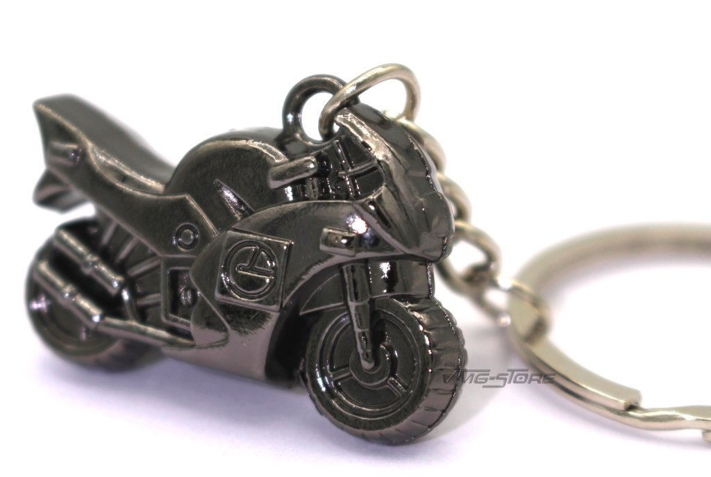Mini Moto Mé tal Noir Porte-clé s de vmg de store hergestellt für boost-key.com