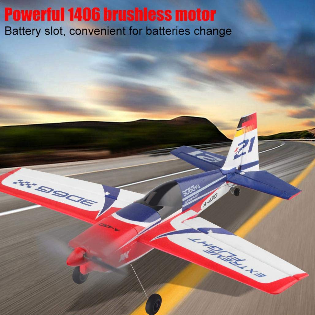 Jeeke RC Airplane Brushless Motor RC Glider XK A430 2.4G 5CH 3D6G System Compatible with FUTABA S-FHSS (White, 43×40×11.3cm/16.9×15.7×4.4in)-Shipping from USA by Jeeke (Image #3)