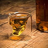 Eco-friendly Crystal Skull Cocktail Glass cup Whisky Shot Glass Cup (250 ml)