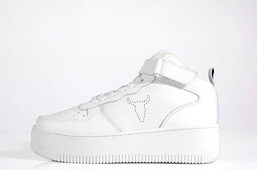 Windsor Smith Sprintah Platform Mid Sneaker all White