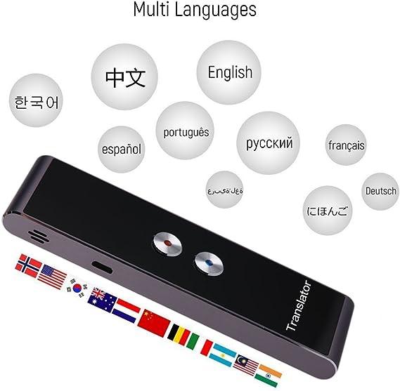 Oshide Sprach/übersetzer Ger/ät Portable Smart Voice Translator Zwei-Wege Echtzeit Instant Voice Translator f/ür das Lernen von Reisen treffen