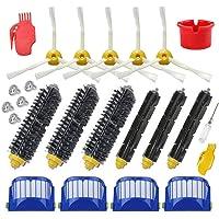 Replacement 4 Aero Vac Filter+3 Set Beater Brush+5 Side Brush kit for iRobot Roomba 600 Series 529 595 610 620 625 630 650 660 670 (Style 1)