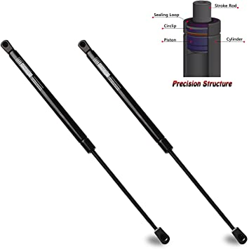 Beneges 2PCs Rear Window Struts Compatible with 2003-2008 Toyota Matrix Window Glass Gas Spring Charged Lift Supports Shocks Dampers SG329022 6893002021 4188