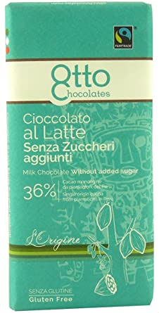 Maltitol chocolate de leche 36% orgánico sin gluten 100 g ...