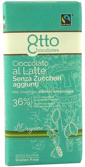 Maltitol chocolate de leche 36% orgánico sin gluten 100 g