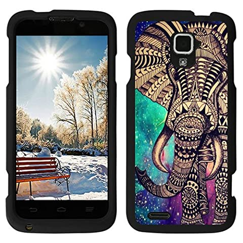 URAKKI Aztec Elephant Design Slim Fit Hard Case Phone Cover for ZTE Rapido 4G LTE Z932L (Zte Rapido Phone Cases)