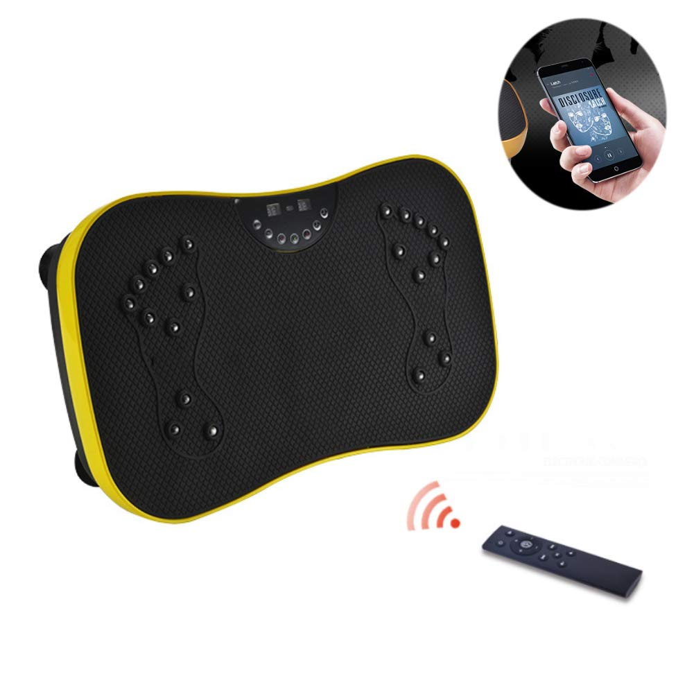 Fitness Vibration Platform Vibration Plate Wireless Remote Control for Massage and Sports Fat Reduction,Yellow
