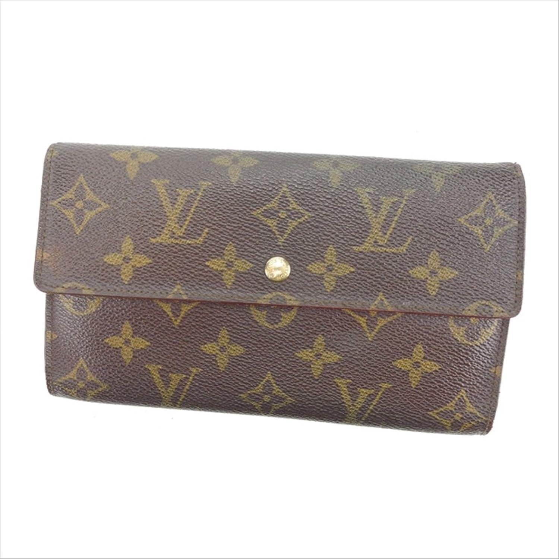 [ルイヴィトン] Louis Vuitton 長財布 三つ折り財布 男女兼用 ポルトトレゾールインターナショナル M61215 モノグラム 中古 S194 B01LXLT860