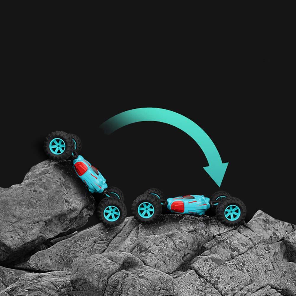NKnk Ein Schlüssel verwandeln Spielzeug Geländewagen Flip Doppelseitig Flip Geländewagen Fahren Elektrisch Racing 45 ° Klettern Kletterer Lkw 2,4 GHz 4WD 1:12 Skala Funkfernsteuerung geeignet für jedes Gelände (Geschen 183c89