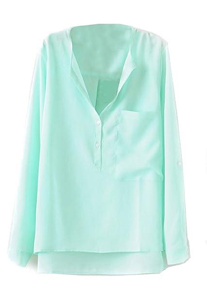 Shein Camisas - Para Mujer Verde Verde Medium: Amazon.es: Ropa y accesorios