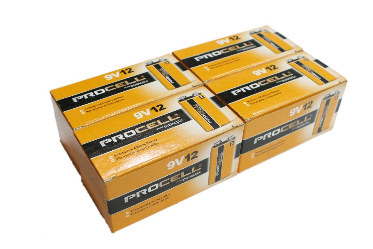 【DURACELL】PROCELL デュラセル プロセル 9V電池 エフェクター/楽器用アルカリ電池 48個セット DP-9V-48pcs B00ZOGVBWG 48個
