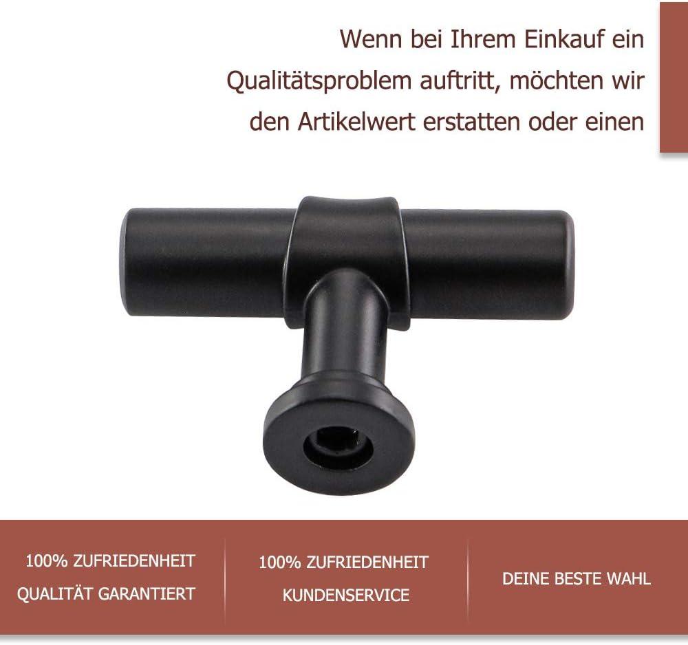 1er-pack Goldenwarm K/üchengriffe 76mm Schwarz T/ürgriff Schrank Edelstahl Extra Stark Griff Stangengriff