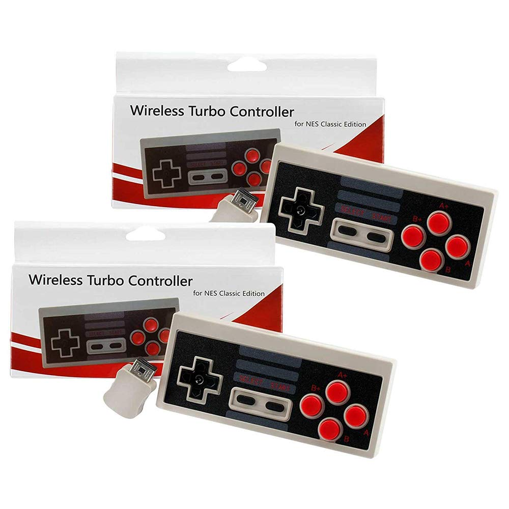 2 Pack NES Classic Wireless Controller, Nintendo Classic Controller Gamepad Joypad for Nintendo NES Classic Edition (NOT for SNES Super Nintendo Classic Edition) by Lxuemlu (Image #3)