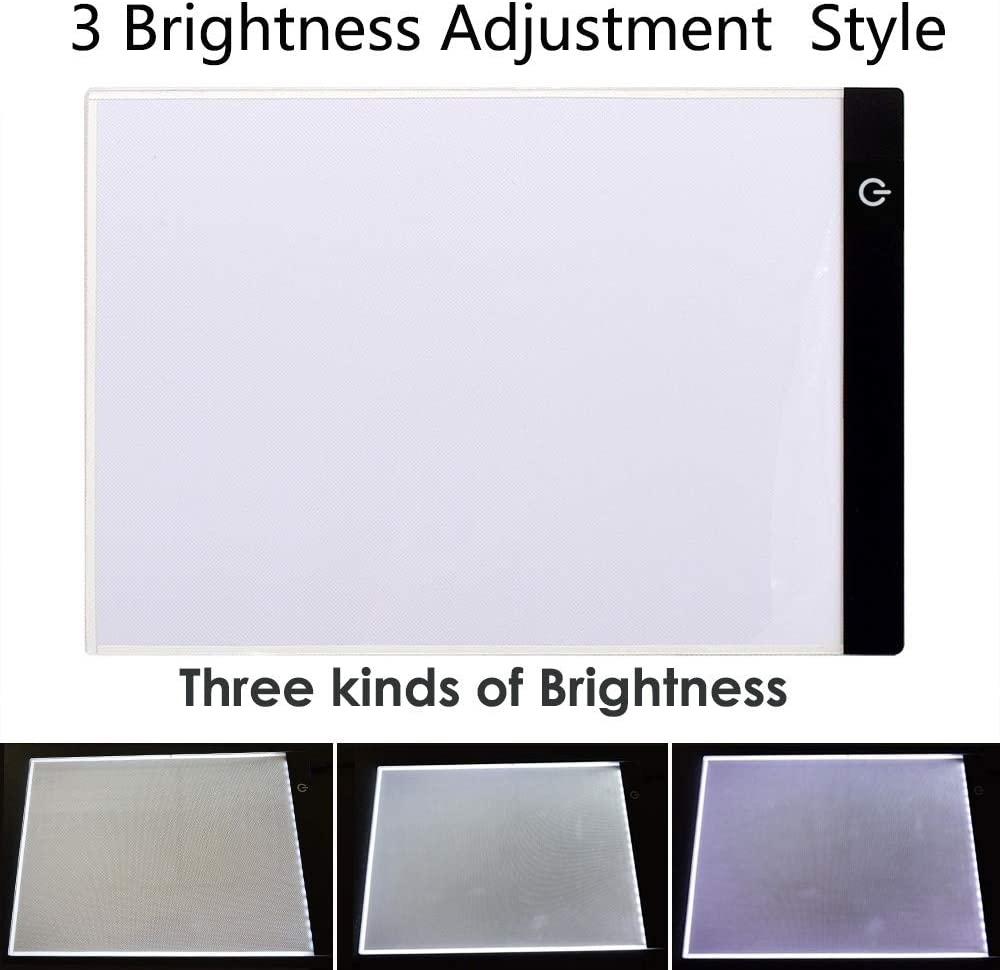Artists Sketching Animation TOPmountain LED Light Box A5 Light Pad for Drawing Light Copy Board Portable Adjustable Brightness Led Light Box for Painting Painting