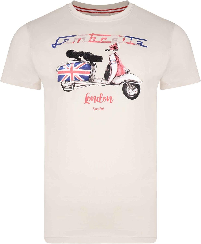 Lambretta - Camiseta - para hombre beige piedra 64: Amazon.es: Ropa y accesorios