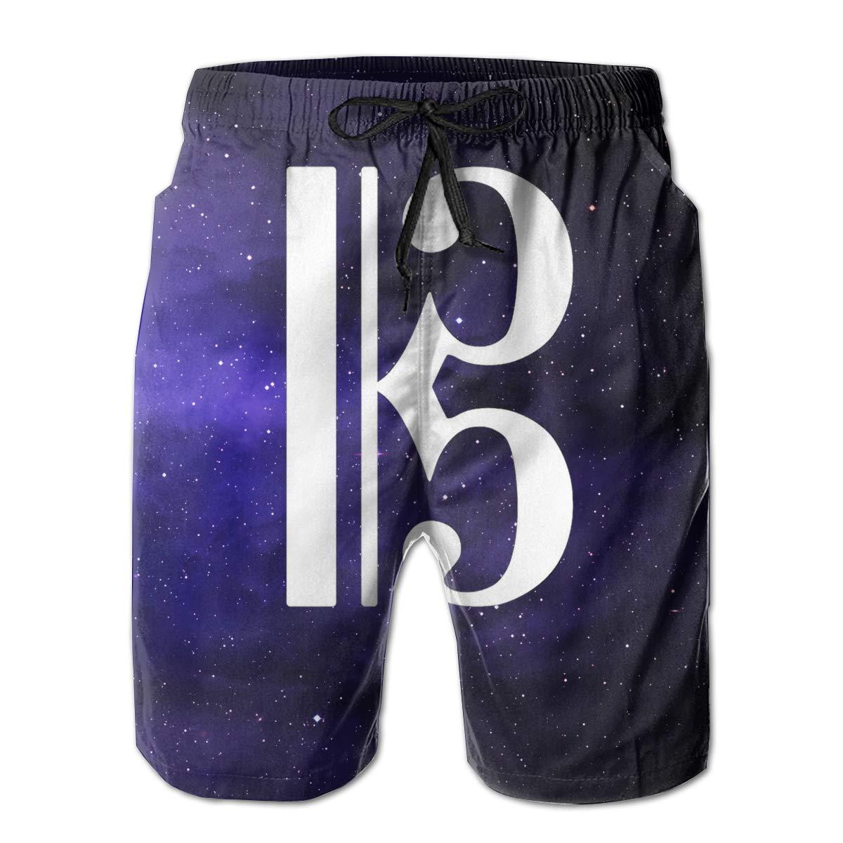 Eofjbg Fashion Mens C-Clef Alto Clef Beach Shorts Board Shorts Casual Shorts Swim Trunks
