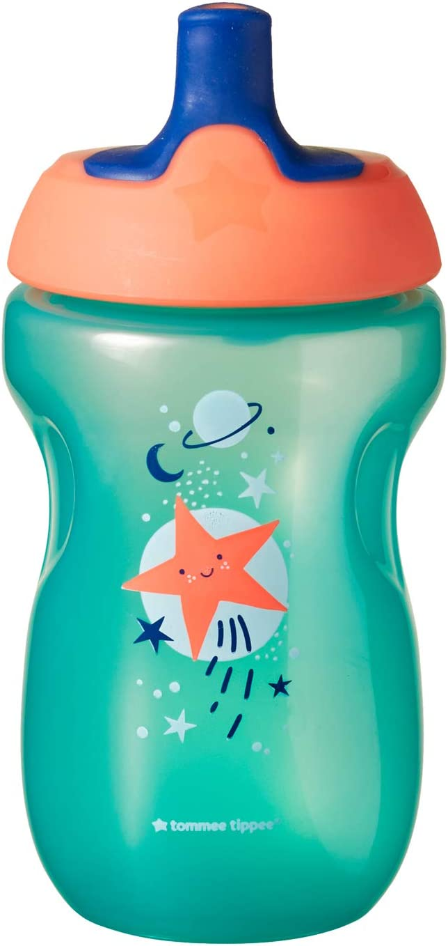 Tommee Tippee Active Sports Bottle 12m+ Green - Orange Star