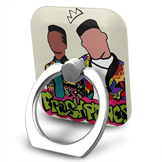 dfb3b329d1b8 BAKAKAZHA Fresh Prince Reloaded Cell Phone Ring Holder Cellphone Finger  Stand 360 Degree Rotation Work for