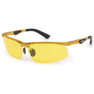 0f8be15590 Men s Night Driving Glasses Anti-glare Top Quality Aluminum-magnesium Alloy  Semi-rimless