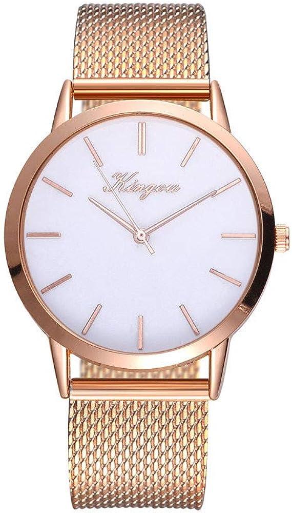 Reloj de Pulsera para Mujer con Esfera de mármol y Correa de Malla de Metal, Color Dorado, analógico, de Cuarzo, Reloj de Pulsera para Mujer