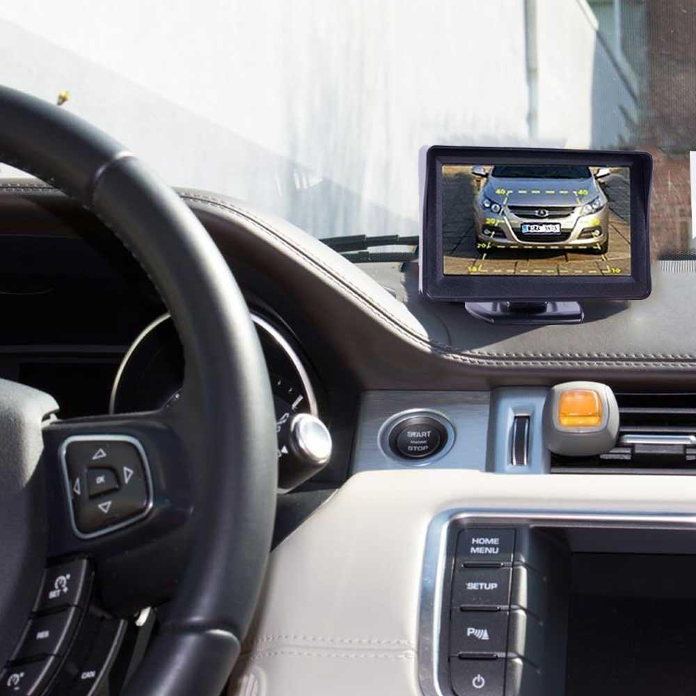 Auto Bis zu 5 Jahre Garantie f/ür PKW Farb Monitor Car Rear View Camera Transporter /& KFZ Bus Kamera Drahtlos Funk Kabellose R/ückfahrkamera mit Abstandslinien