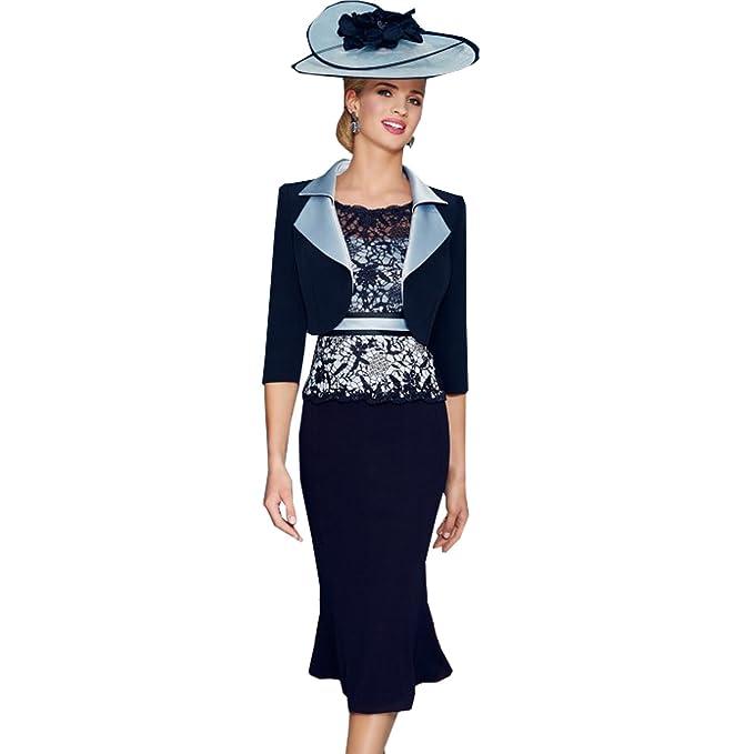 best website 3a1a3 57493 dressvip - Tailleur con abito - Scollato sulla schiena ...