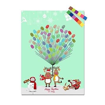 QSEFT Canvas Print Free Benutzerdefinierte Weihnachtsdekoration DIY ...