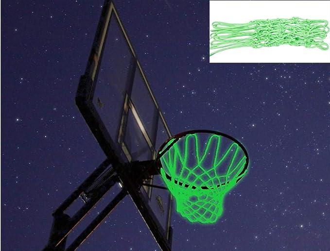 Glowing Basketball Net Basketball Hoop Mesh Outdoor Trainning  Luminous Ne YM6K