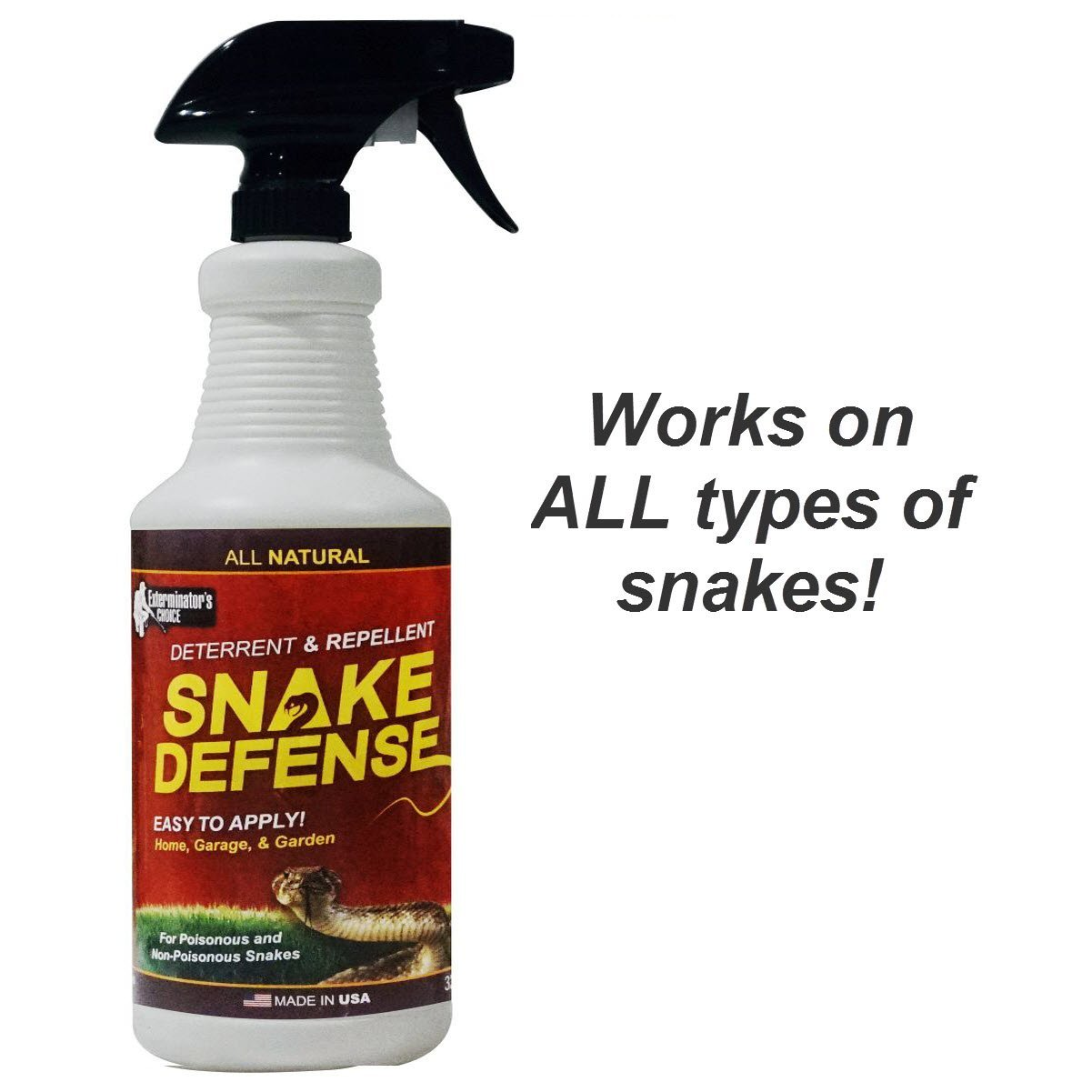 amazon com snake defense natural snake repellent effective and