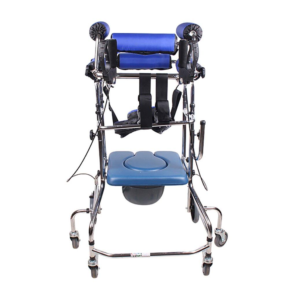 毎日 ウォーキング/障害者ウォーキングアシスタンス座る車椅子スタンディングベッドブルーシックスラウンドハンドブレーキ/フットブレーキ追加トイレ B07F5KCWGQ