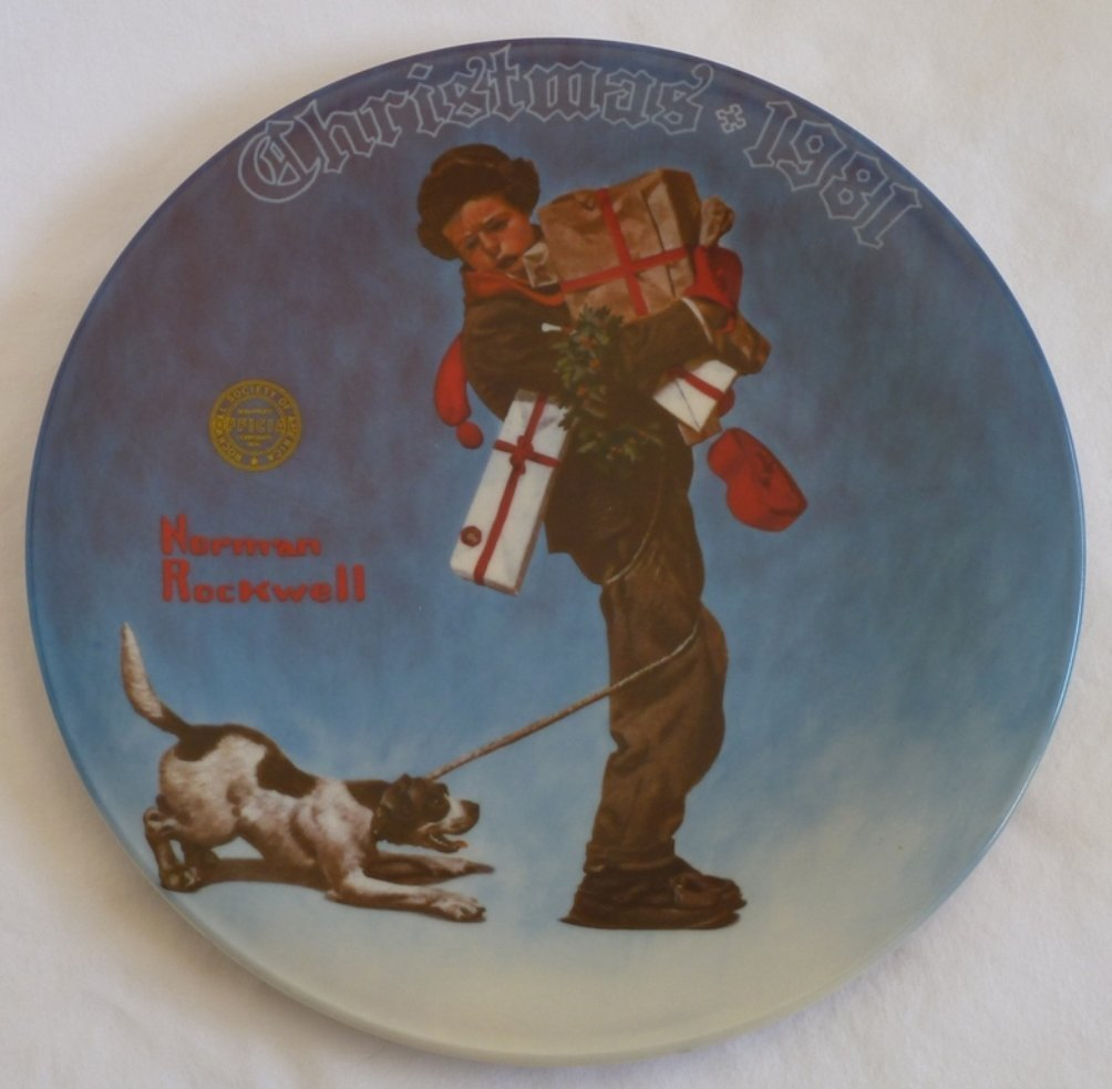 Amazon.com: Norman Rockwell Christmas 1981 Plate: Home & Kitchen