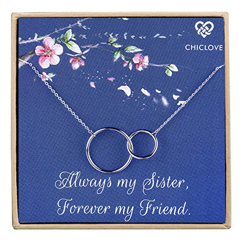 CHICLOVE Sterling Silver Two Interlocking Infinity Double