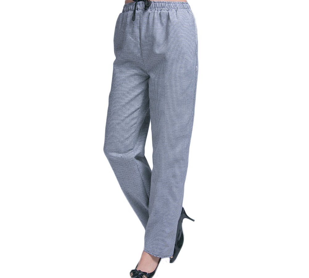 Nanxson TM Women Hotel/Kitchen Houndstooth Uniform Bakery Chef Pants Working Cargo Elastic Waist Pants CFW2004 (M, Houndstooth)