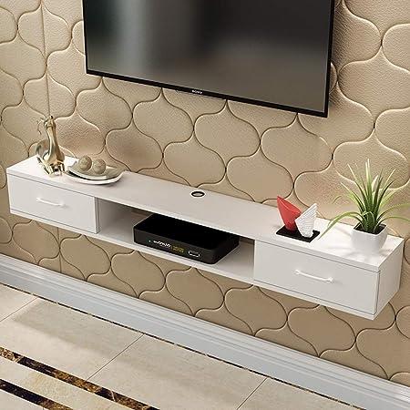 YYHSND Mueble de TV montado en la Pared Fondo de Pared Rack de Almacenamiento con cajón