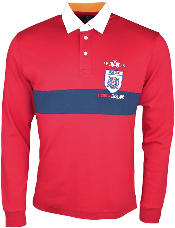 La Martina Polo Rugby Rojo y Azul Marina Polo Club London Regular ...