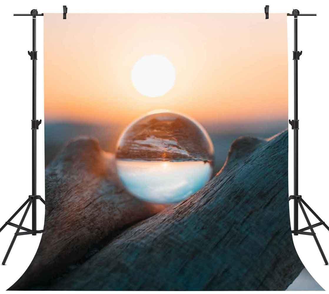 FH 5 x 7ftサンセットバックドロップクリスタルボール反射写真背景テーマパーティーYoutube背景写真ブース小道具Studio fh1033   B07CQV889S