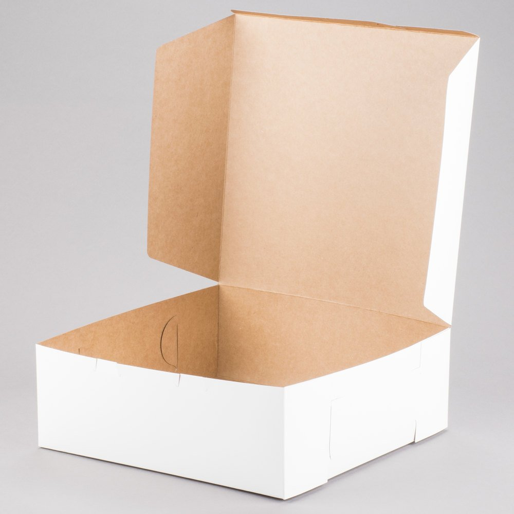 Southern Champion Lot of 10 Bakery or Cake Box White 14x14x6 by Southern Champion (Image #1)