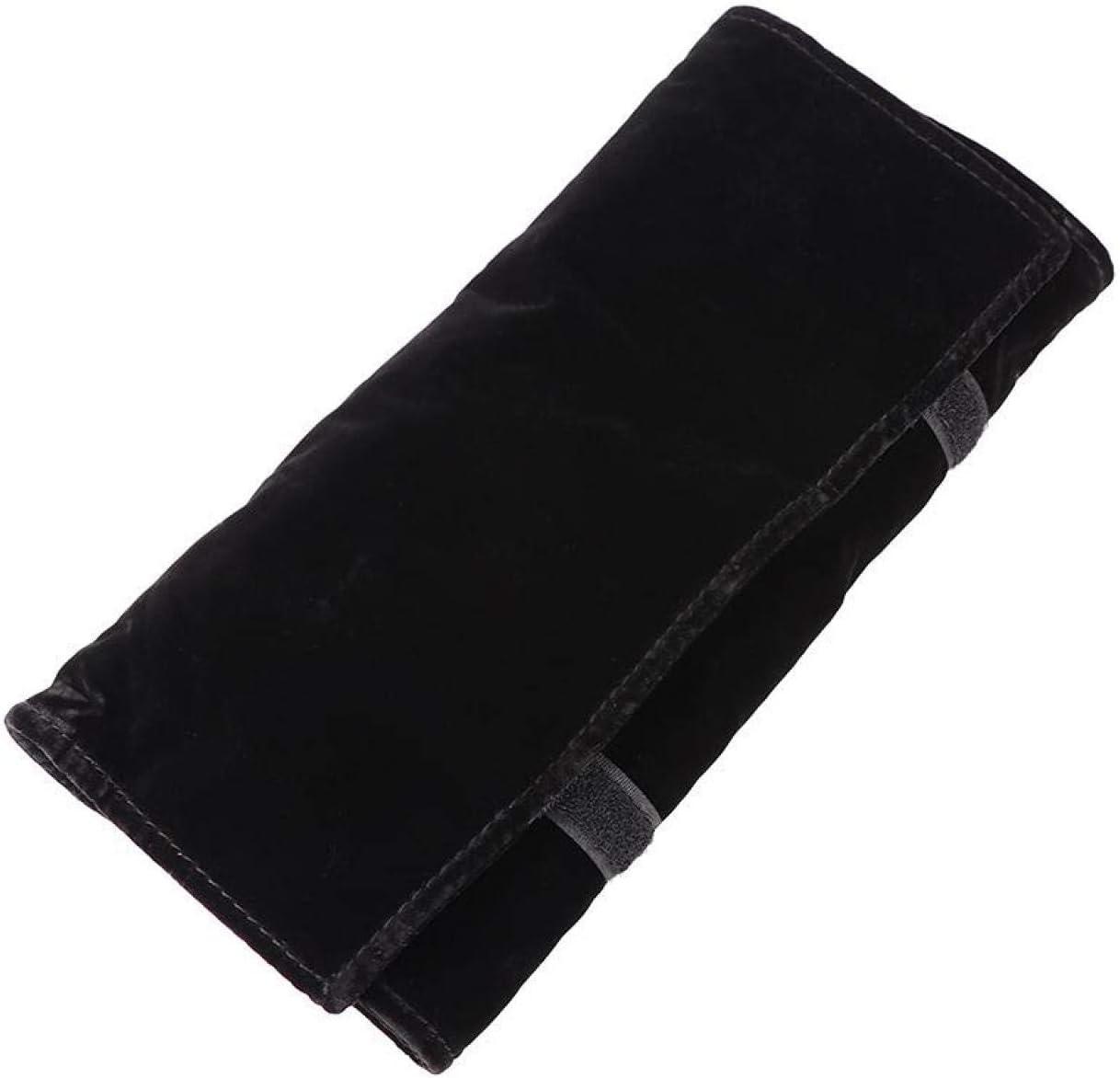 Soporte de almacenamiento de joyería duradero y antidesgaste de franela multifuncional negro, protege mejor los adornos y evita arañazos