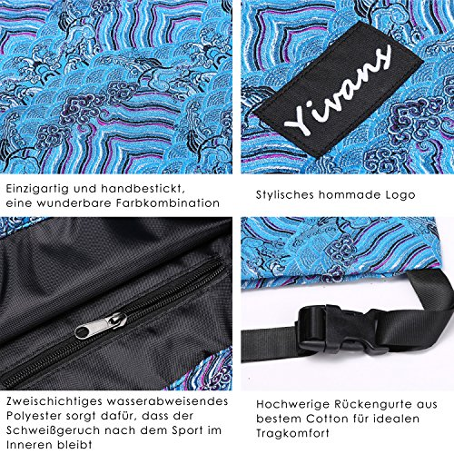 Yivans Hipster Stil Sportbeutel Turnbeutel Tasche Rucksack Jutebeutel Gym Bag Gymsack
