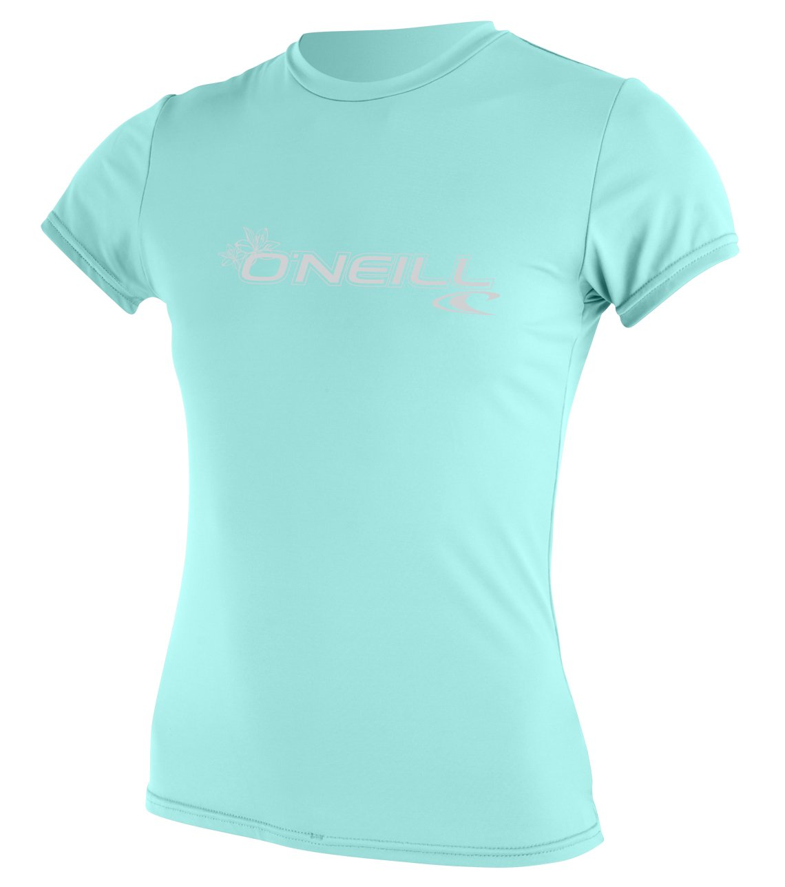 O'Neill Wetsuits Women's Basic Skins Upf 50+ Short Sleeve Sun Shirt, Seaglass, X-Small by O'Neill Wetsuits