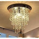 ثريا جانييد البلورية الصغيرة ، مصباح إضاءة السقف البلوري المتوهج العصري، ثريا ب3 أضواء للممشى، الرواق، الممر، غرفة…