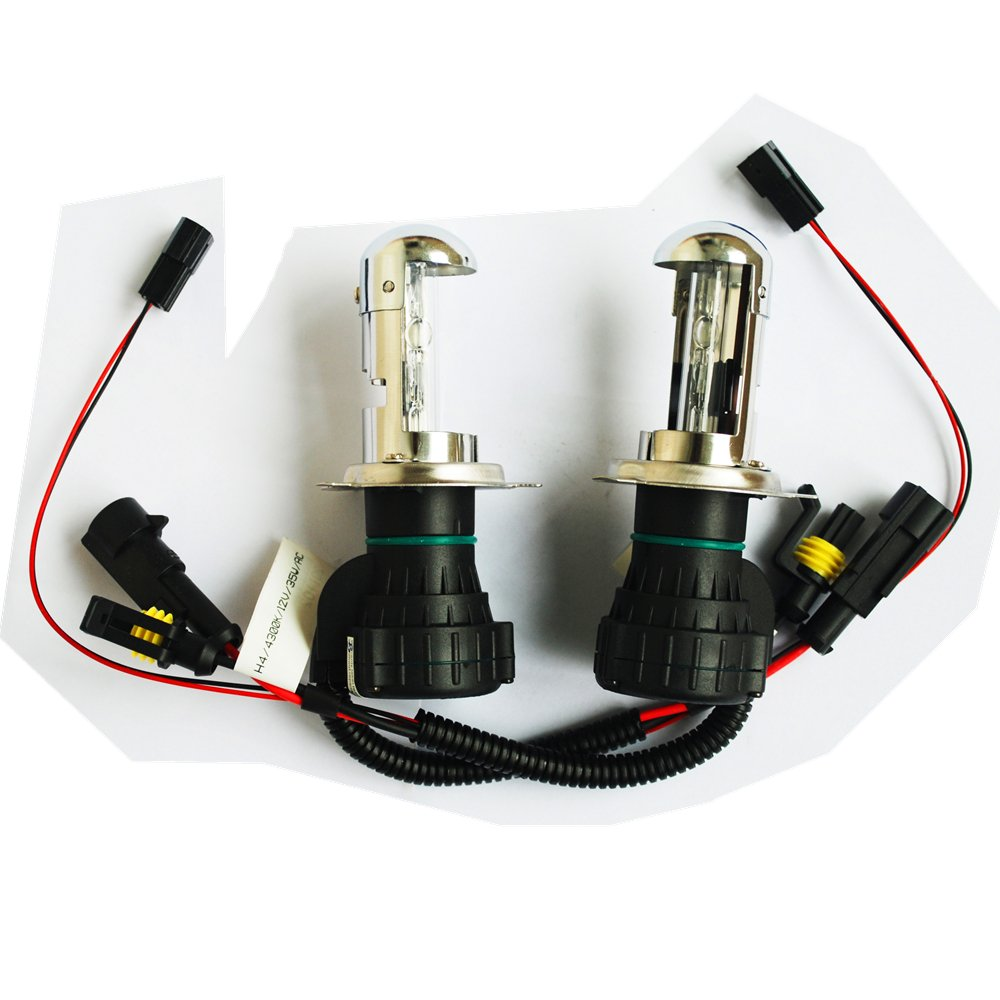 Pack of Two H4-3 9003 Hb1 High/low Bi-xenon Beam Xenon HID Direct Replacement Bulbs (12V 35W, 12000K)
