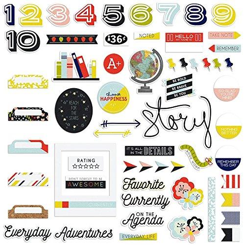 Take Note Ephemera Cardstock Die-cuts-numbers, Words, & Symbols