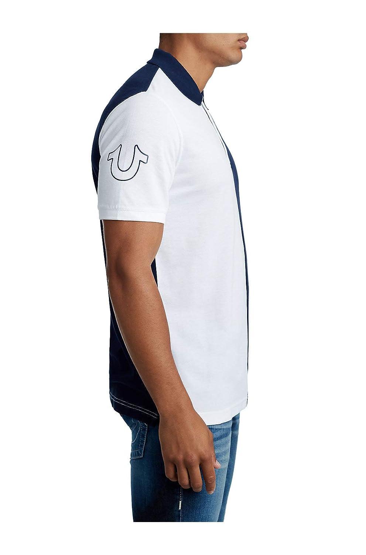 a490116cf7de True Religion Men s Split Panel Half Polo Shirt  1541021865-382121 ...