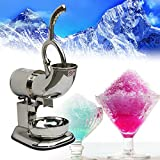 Genmine Commercial Ice Shaver Machine 220W 400lbs/h Stainless Steel Blade Countertop Electric Icee Shaving Maker Crusher Snow Cone Machine