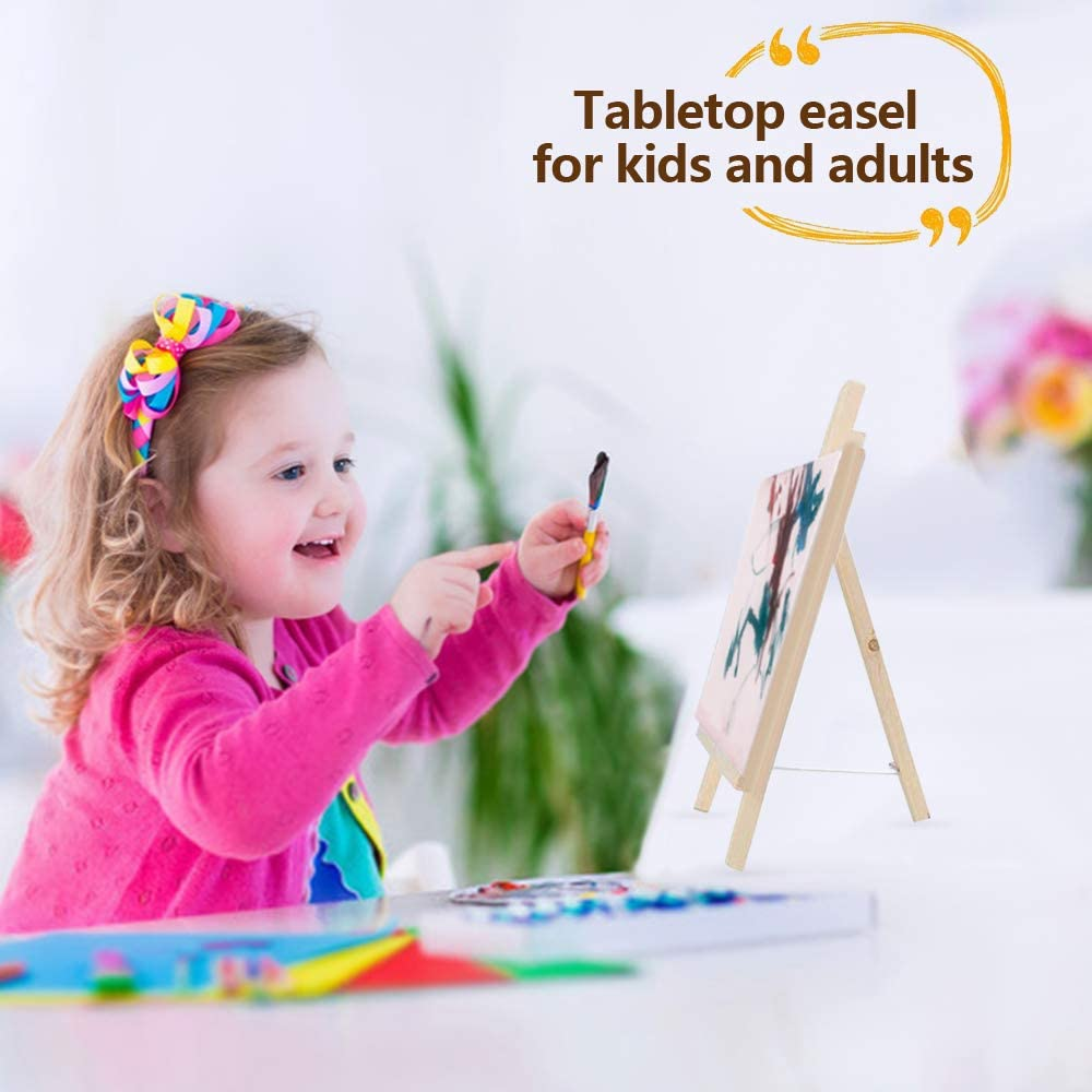 27pcs Paintbrushes Kit with Childrens Paint Brushes Paint Canvas Easel Palette Waterproof Kids Aprons for Painting And Bag for Toddler Crafts MMTX Kids Paint Set Paints for Kids Crafts